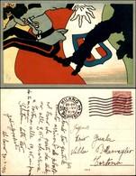 CARTOLINE - MILITARI/UMORISTICHE - Stivale Che Caccia Austriaco - Viaggiata 1916 - Stamps