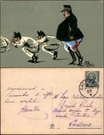 CARTOLINE - MILITARI/UMORISTICHE - Esercizi - Illustratore Pitui - Viaggiata 1909 - Stamps