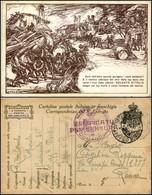 """CARTOLINE - FRANCHIGIA MILITARE - 1918 - Guerra - Illustratore Mazzoni """"senti Dall'altra Sponda"""" (F17A-11) - Viaggiata ( - Stamps"""