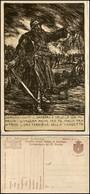 """CARTOLINE - FRANCHIGIA MILITARE - 1918 - Guerra - Illustratore Mazzoni 3° Armata """"digrignò I Denti"""" (F17A-20) - Nuova (1 - Stamps"""