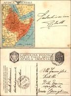 CARTOLINE - FRANCHIGIA MILITARE - 1936 - Carta Geografica A Sinistra Africa Orientale (F33-1) - Viaggiata 20.6.36 - Stamps