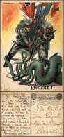 CARTOLINE - FRANCHIGIA MILITARE - 1942 - Anti Bolscevismo - Tripartito E Piovra U.R.S.S. Illustratore Casolare (F75-1) - - Stamps