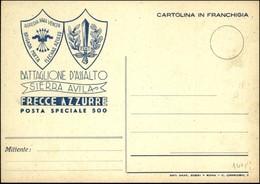 """CARTOLINE - FRANCHIGIA MILITARE - Battaglione D'assalto """"Sierra Avila"""" - Frecce Azzurre - Posta Speciale 500 - Nuova FG  - Stamps"""