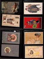 CARTOLINE - LOTTI - Piccolo Porta Foto Con 59 Cartoline Stile Liberty - Nuove E Usate - Discreto Insieme - Stamps