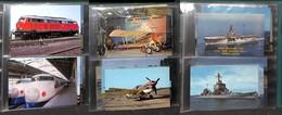 """CARTOLINE - LOTTI - Trasporti - Lotto Di 3 Raccoglitori """"Juno"""" Con Oltre 100 Cartoline Moderne - Presenti Navi Aerei Tre - Stamps"""