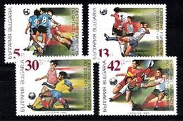 Bulgarien 1990  Mi.nr:3825-3828 Fussbal-Weltmeisterschaft, Italien  Neuf Sans Charniere / Mnh / Postfris - Bulgaria
