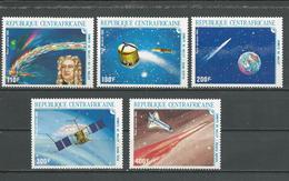 CENTRAFRIQUE  Scott C318-C322 Yvert PA341-PA345 ** (5) Cote 11,60 $ 1986 - Centrafricaine (République)