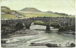 DOLWYDDELAN BRIDGE - CARD PRODUCED BY WRENCH WITH DUPLEX DOLWYDDELAN AND A WEST EALING POSTMARK - Caernarvonshire