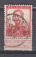 111 Gestempeld MERCHTEM - COBA 15 Euro - 1912 Pellens