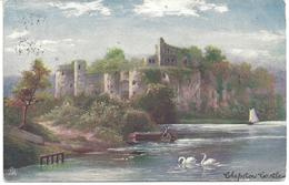CHEPSTOW CASTLE TUCKS OILETTE - THE WYE VALLEY WITH NORWICH DUPLEX POSTMARK - Monmouthshire