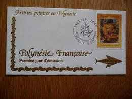 (D) POLYNÉSIE FRANCAISE 2 FDC ARTISTES PEINTRES EN POLYNÉSIE 09-12-1992 - FDC