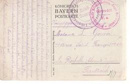 1.WW, KriegsgefangenenlagerGrafenwöhr, Auf AK Nürnberg - 1914-18
