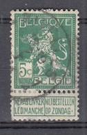 110 Gestempeld NIVELLES - NIJVEL - COBA 4 Euro - 1912 Pellens