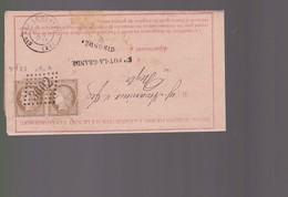 Lettre  De La Poste  Avril 1874  Offre De Prix Pour  Julienbaille .Merci - Postmark Collection (Covers)