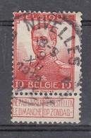 111 Gestempeld NIVELLES - NIJVEL - COBA 4 Euro - 1912 Pellens