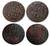 BELGIQUE Lot Liards 1750/51 Évêché De Liège Jean Théodore De Bavière  A VOIR!!! - Belgique