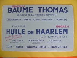 Buvard  Baume Thomas Huile De Haarlem - Carte Assorbenti