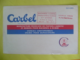Buvard  CARBEL Manufacture Française De Papiers Carbone - Carte Assorbenti