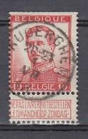 118 Gestempeld AUDERGHEM - COBA 8 Euro (zie Opm) - 1912 Pellens