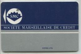 Spécimen Perforé Carte De Crédit - Société Marseillaise De Crédit - Marseille Aubagne - (Carte Bleus Visa) Credit Card - Cartes De Crédit (expiration Min. 10 Ans)
