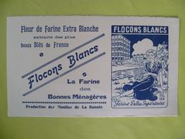 Buvard  Fleur De Farine Extra Blanche FLOCONS BLANCS  A La Bassée - Blotters