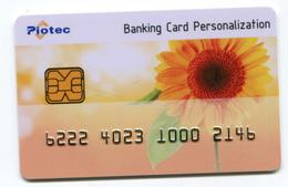 """Spécimen Carte De Crédit Publicitaire """"Banking Card Personalization"""" Carte Bancaire - Bank Credit Card - Cartes De Crédit (expiration Min. 10 Ans)"""