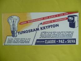 Buvard  Lumière TUNGSRAM KRYPTON - Blotters