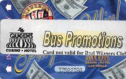 Paper Four Queens Casino Las Vegas, NV Bus Promo On Play To Win Temporary Card - Casino Cards