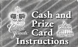 Paper Four Queens Casino Las Vegas, NV - Cash & Prize Card Instructions - Casino Cards