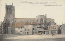 Roanne En 1904 - Vieilles Maisons, Place Du Château, Derrière L'Eglise Saint-Etienne - Carte Colorisée Non Circulée - Roanne