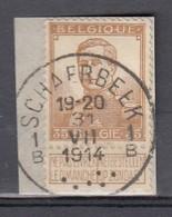 113 Gestempeld SCHAERBEEK 1 B - COBA 7 Euro - 1912 Pellens