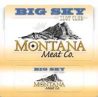 Montana Meat Casino - Las Vegas, NV - Plastic Slot Card Set - Full Size + Key Ring Attached - Casino Cards