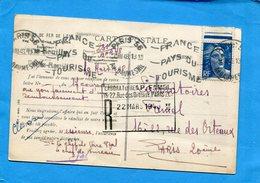 Chemins De Fer De L'est--carte Postale -chateau Regnault-cad 1948 Paris Reuilly Pour Laboratoires Famel - Railway Post