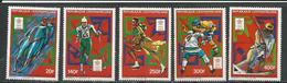 CENTRAFRIQUE  Scott 858-862 Yvert 768-770, PA367-PA368 ** (5) Cote 11,00 $ 1988 - Centrafricaine (République)