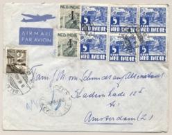 Nederlands Indie - 1948 - Deviezencontrole / Censuur Semarang Op LP-cover Van Salatiga Naar Amsterdam - Nederlands-Indië