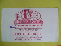 Buvard  DESSERTS ASSORTIS Mortelette Bigotte A OSTRICOURT - Blotters