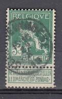 110 Gestempeld SCHELDEWINDEKE - COBA 8 Euro - 1912 Pellens