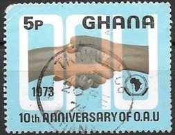 1973 Anniversary Of OAU, 5p, Used - Ghana (1957-...)