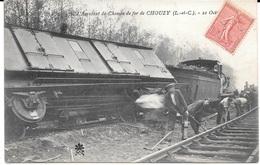 41 - L'Accident De Chemin De Fer De CHOUZY Du 21 Octobre 1904 - N° 576 - Circulé 1905 - B.E. - Trains