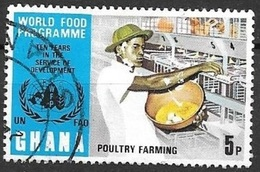 1973 Poultry Farming, 5p, Used - Ghana (1957-...)