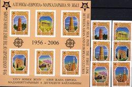 Imperforiert CEPT 2005 Kirgisistan 449/4+Block 44B ** 32€ Hb Bloc S/s Art Sheet Bf Architectur Athen Venecia Cyprus - Europa-CEPT