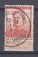 118 Gestempeld ST AMANDSBERG - MONT ST-AMAND - COBA 8 Euro - 1912 Pellens