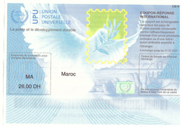 Maroc. Coupon-Réponse International. Valeur D'envoi Prioritaire Ou Par Avion. - Stamps