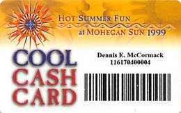 Mohegan Sun Casino - Uncasville, CT USA - Paper Cool Cash Card - Game Card From 1999 - Casino Cards
