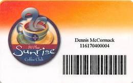 Mohegan Sun Casino - Uncasville, CT USA - Paper 50 Plus Sunrise Coffee Card - Game Card From 2002 - Casino Cards