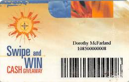 Mohegan Sun Casino - Uncasville, CT USA - Paper Swipe & Win Card - Game Card From 2001 - Casino Cards