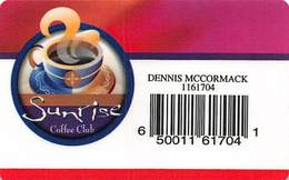 Mohegan Sun Casino - Uncasville, CT USA - Paper Sunrise Coffee Club - 2004 - Casino Cards