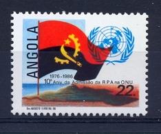 ANGOLA 1986 10th Anniversary  Admission Of  R.P.A. In O.N.U. - Angola