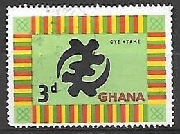 1959 3p Cloth, Used - Ghana (1957-...)