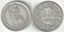 Schweiz  2 Fr. Münze           1944 - Switzerland